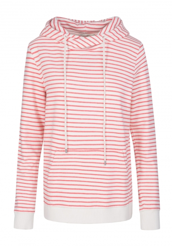 (w) Hooded Armedangels Maleen Stripes