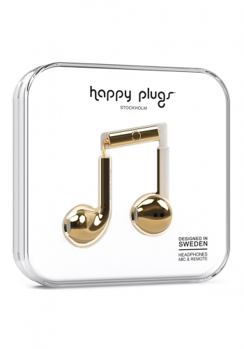 Headphone Happy Plugs Earbud Plus Gold