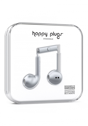 Headphone Happy Plugs Earbud Plus Space Grey