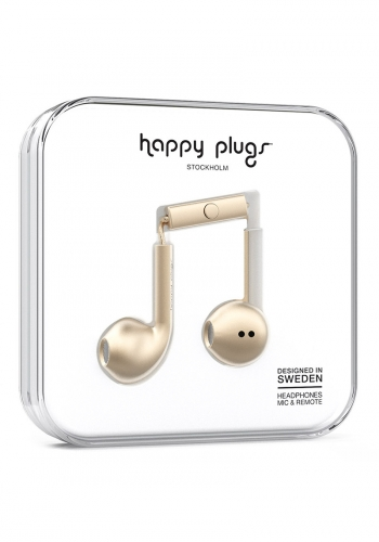 Headphone Happy Plugs Earbud Plus Champagne