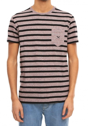 T-Shirt Iriedaily Chamisso Stripe Pocket