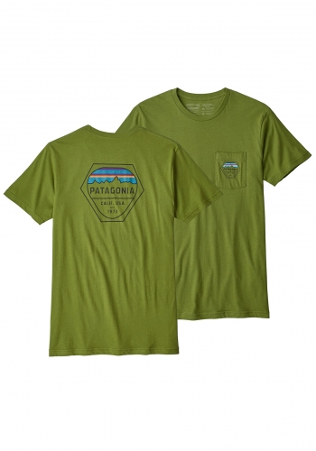 T-Shirt Patagonia Fitz Roy Hex Organic Pocket