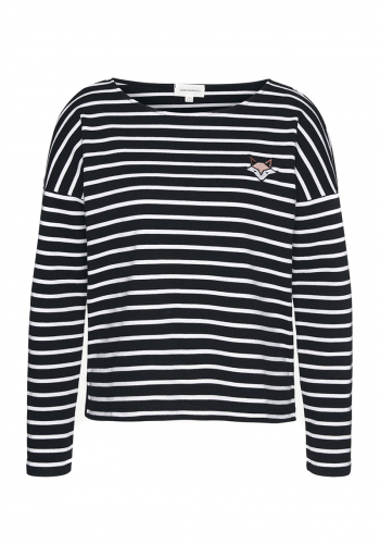 (w) Pulli Armedangels Filly Stripe Fox