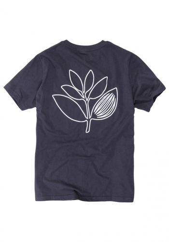 T-Shirt Magenta Plant Outline