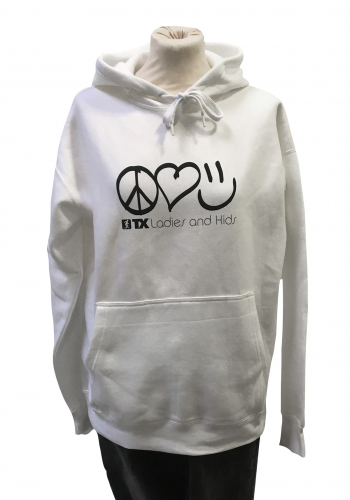 (w) Hooded TX Peace/Love/Happiness