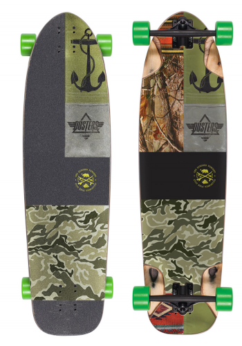 Komplett Longboard Dusters Shooter Kryptonics Green 9.75
