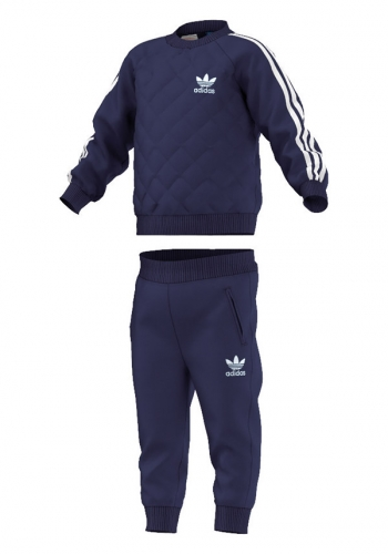 (y) Set Adidas Quilted Crew