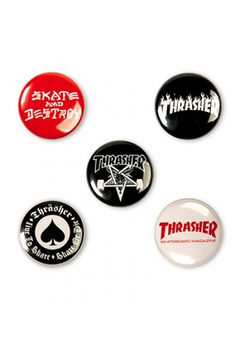 Pin Thrasher Logo 5er Set