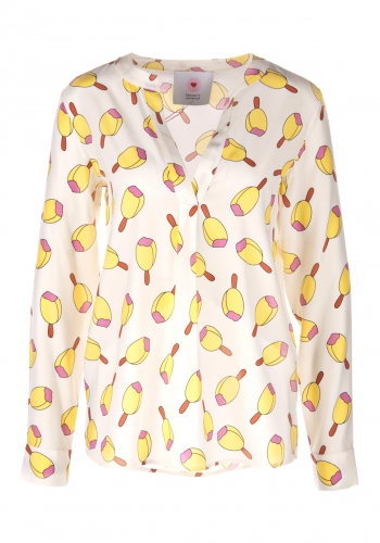 (w) Blouse Herzensangelegenheit Print Ice Cream