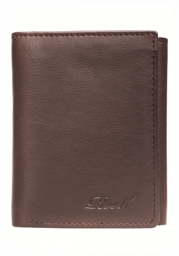 Geldbeutel Reell Mini Trifold Leather brown
