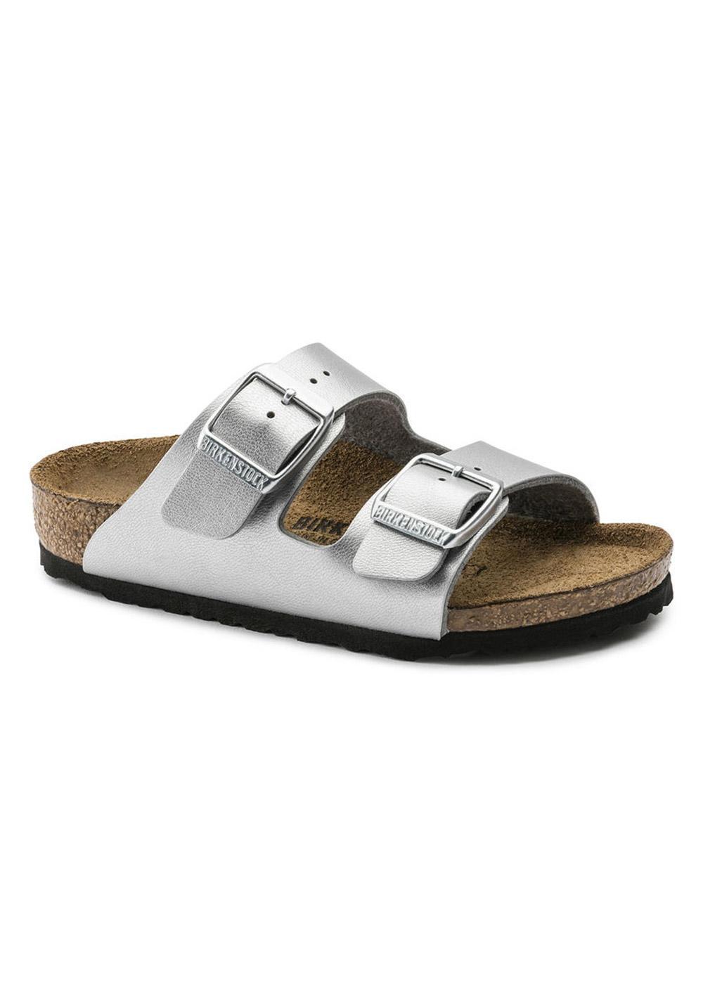 y) Sandale Birkenstock Arizona BF Größe: 31 Farbe: Silber