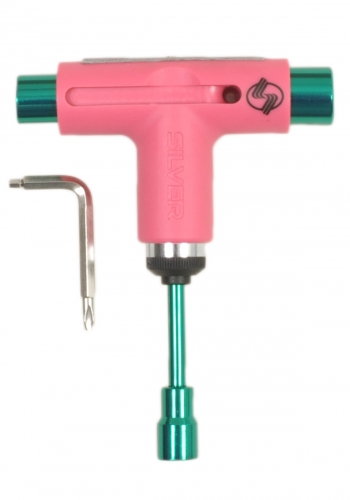 Tool Silver Neon Pink/Green