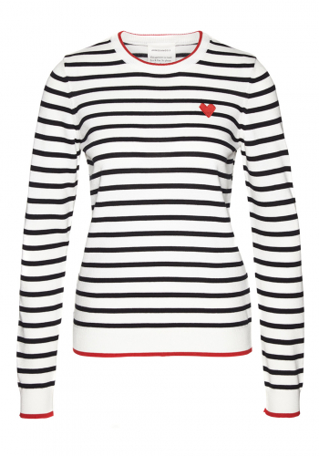 (w) Pulli Armedangels Onana Heart on Stripes