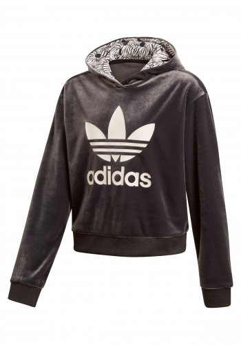 (y) Hooded Adidas Zebra Crop