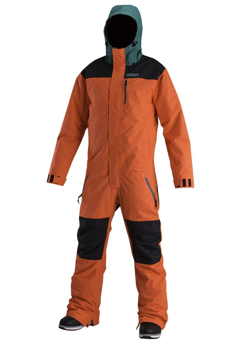 Snow Overall Airblaster x Gnu Insulated Freedom Suit - Größe: XL - Farbe: Orange