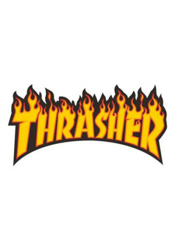 Sticker Thrasher Flame Large
