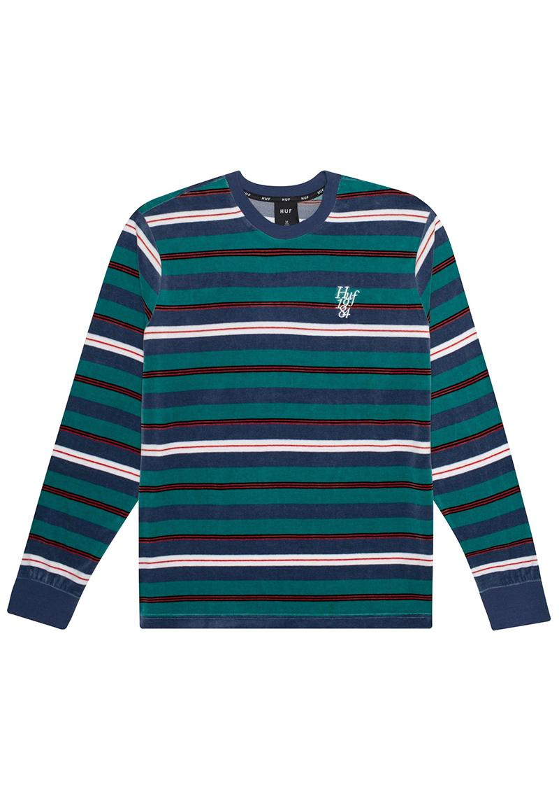Longsleeve Huf Unveil Stripe Velour
