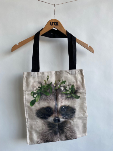 (w) Shoppingbag Waschbär