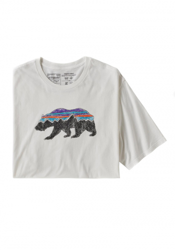T-Shirt Patagonia Fitz Roy Bear white