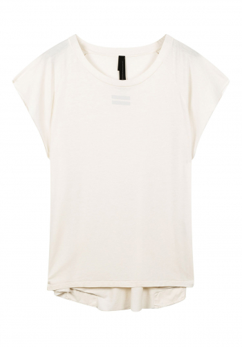 (w) T-Shirt 10DAYS Raw Edge white