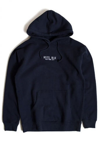 Hooded Hotel Blue Logo Hoody