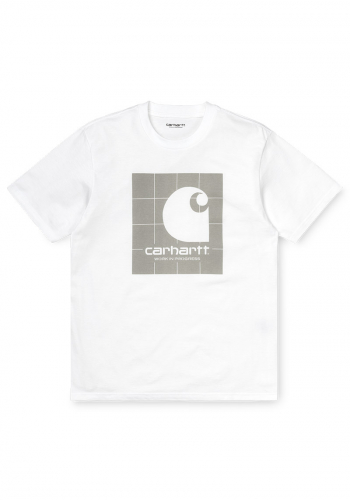 T-Shirt Carhartt WIP Reflective Square white