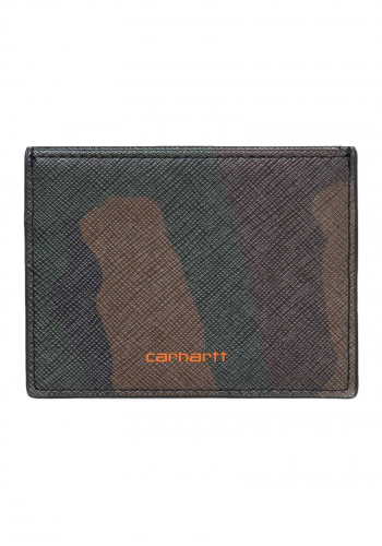 Geldbeutel Carhartt WIP Coated Card Holder camo laurel/orange