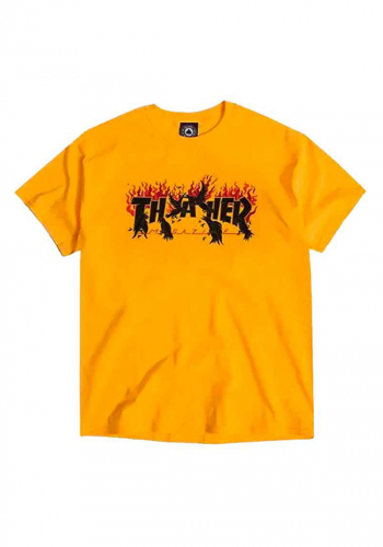 T-Shirt Thrasher Crows gold