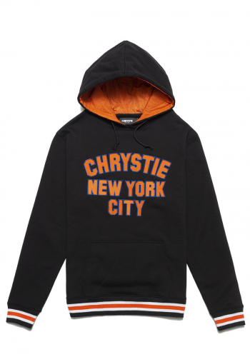Hooded Chrystie NYC Varsity Logo black