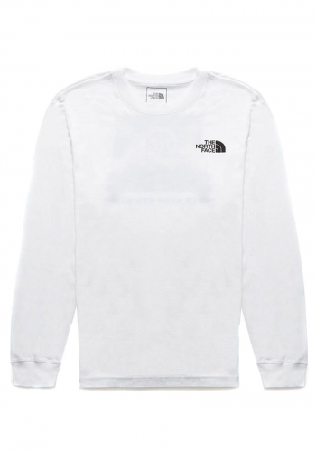 Longsleeve The North Face Red Box white/camo