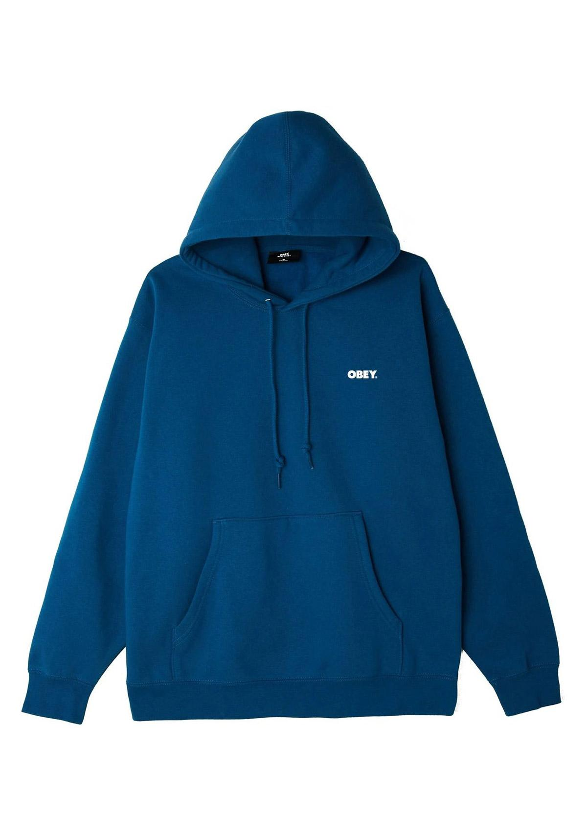 Hooded Obey Bold Box Fit blue sapphire