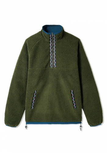 Fleece Butter Goods Glacier Sherpa 1/4-Zip forest