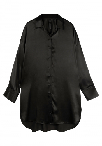 (w) Bluse 10DAYS Tunic Silk Dress black