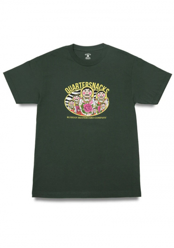 T-Shirt Quarter Snacks Russian Doll forrest green