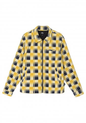Fleece Stüssy Brent Polar Jacket yellow
