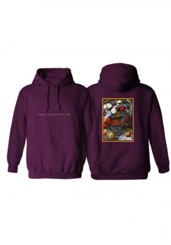 Hoodie Poetic Collective Flower bordeaux