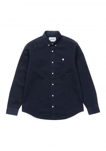 Hemd Carhartt WIP Madison Shirt dark navy